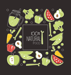 natural food banner template element can be used vector image