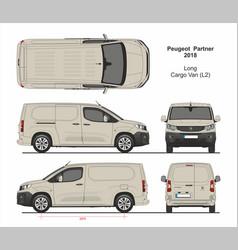 Peugeot partner cargo long van l2 2018 vector