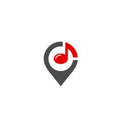 Pin music logo icon design vector