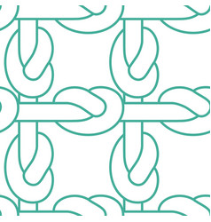 rope node pattern bonded twine ornament textile vector image