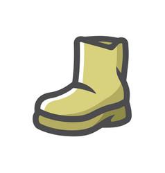 rubber green boot icon cartoon vector image
