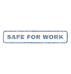 safe for work textile stamp vector image