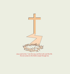 salvation through jesus vector image