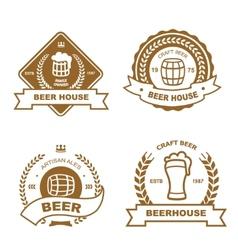 set monochrome badge logo and design elements vector image