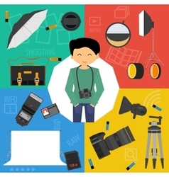 set photographic equipment vector image