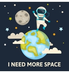 Space Colored Poster vector