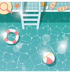 Swimming pool top view summer holiday vacation vector image