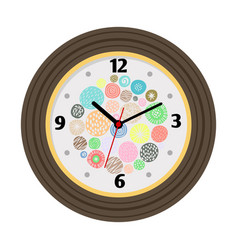 Wall clock with artistic background vector