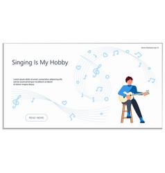 Website for singing hobby vector