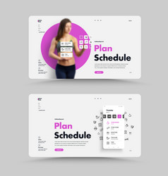 white web page template for planning your daily vector image