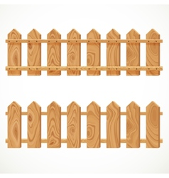 Wooden fence from short planking vector image