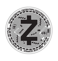 crypto currency zcash black and white symbol vector image vector image