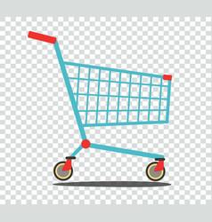 empty supermarket shopping cart vector image vector image