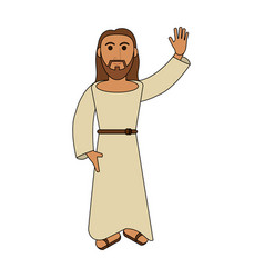 jesuschrist cute cartoon vector image