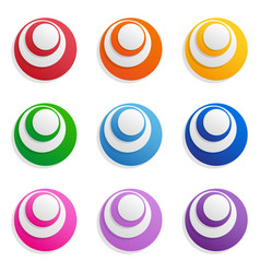 abstract high-tech circles isolated objects vector image