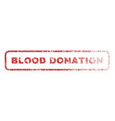 blood donation rubber stamp vector image vector image