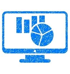 Charts Monitoring Grainy Texture Icon vector image vector image