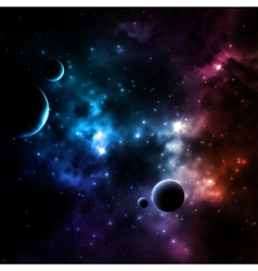 Galaxy background vector image