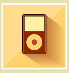 Music Media MP3 Player Retro Icon vector image
