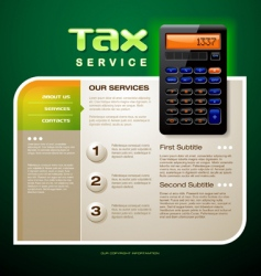 Tax service brochure vector