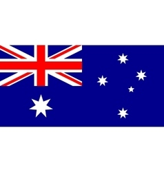 Australian flag in correct proportions and colors vector image vector image