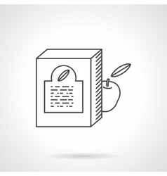 Baby food box flat line icon vector image vector image