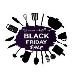 black friday -45 discount vector image