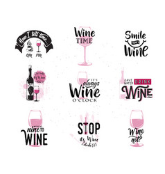 drink wine related vector image vector image
