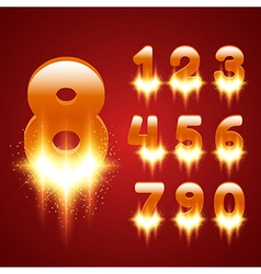 Glowing Numbers Set vector image vector image