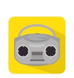 Radio retro isolated icon vector