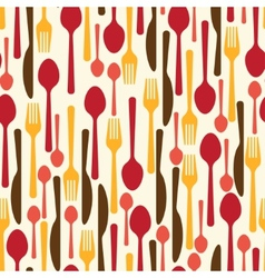 Seamless pattern with restaurant and kitchen vector image
