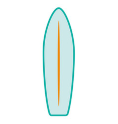 surf board isolated icon vector image vector image