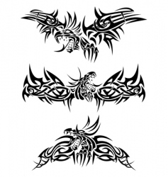 tattoos dragons vector image