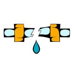 break trumpet icon cartoon vector image vector image