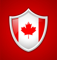 Canadian shield icon vector image
