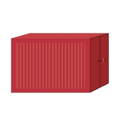 Cargo container for freight shipping vector