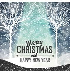 christmas greeting vintage vector image vector image