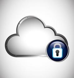 cloud security vector image