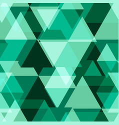green geometry abstract seamless pattern vector image vector image
