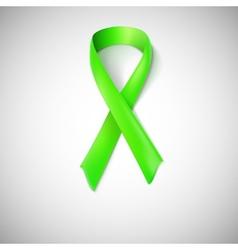 Green ribbon loop vector image