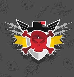 Skull in beret with the Eagle war emblem vector image