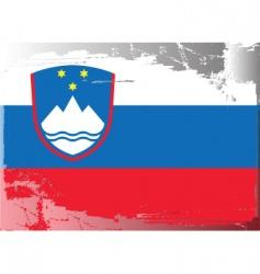 slovenia national flag vector image vector image