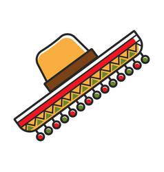 sombrero hat for mexico travel destination vector image vector image
