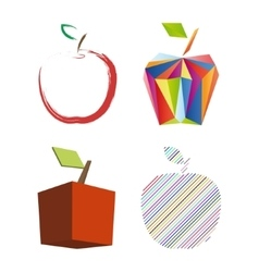 Abstract apple set vector image vector image