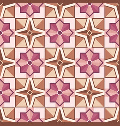 abstract mosaic tile pattern with geometric shape vector image