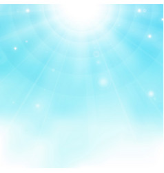 abstract of colorful realistic sun burst on blue vector image
