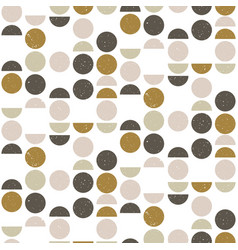 abstract seamless geometric pattern with circles vector image