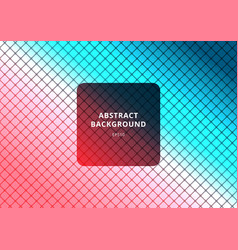abstract square pattern diagonal on blue and pink vector image