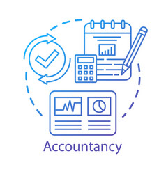 Accountancy concept icon budgeting and finance vector