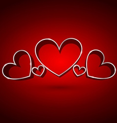Attractive background hearts vector